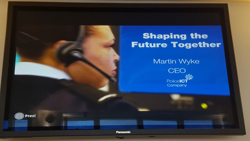 Shaping the future together , Martin Wyke CEO Police ICT Company
