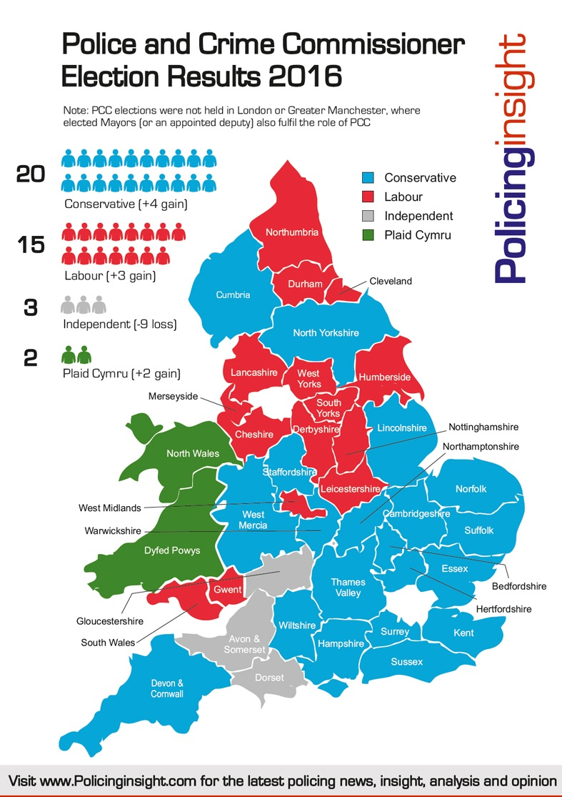 PCC Elections 2016 Results Map