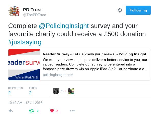 PD Trust tweet