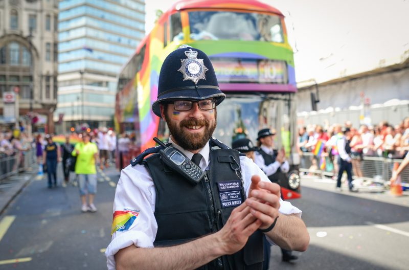 Police officer at London Pride, 2015