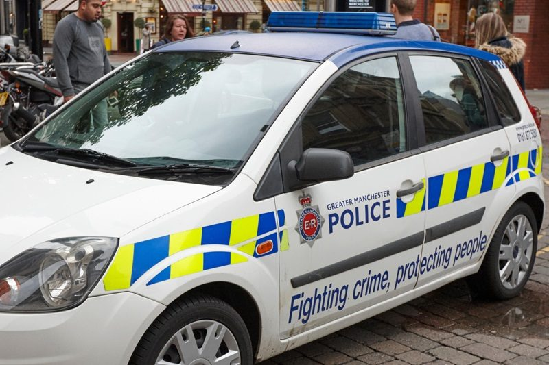 greater manchester police patrol squad car