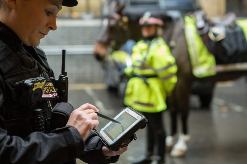 City of London Police Panasonic Toughpad FZ-M1 tablets