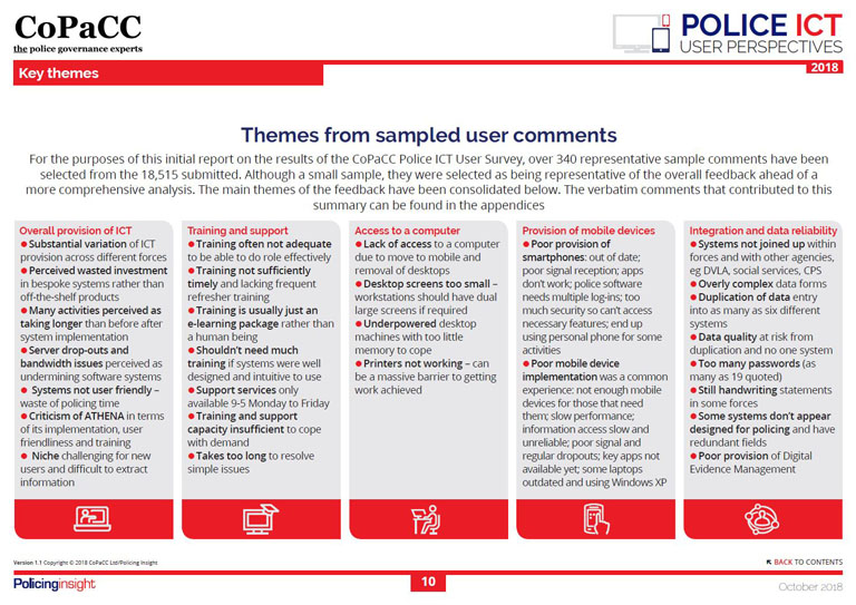 User themes - CoPaCC Police ICT: User Perspectives