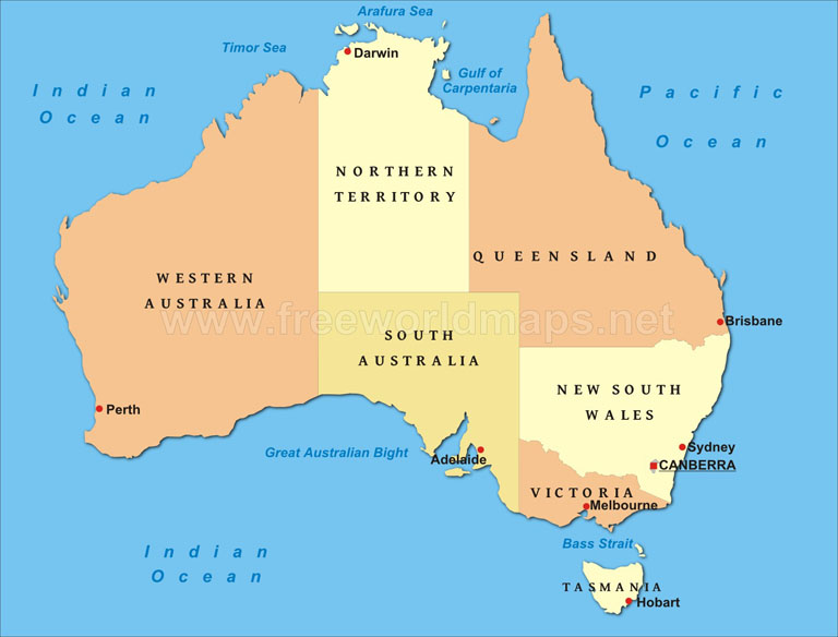 Simple Map Of Australia.Simple Map Of Australia For 768x584 Policing Insight