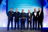 WINNER: Operation Moonshot - Disrupting Criminals and Protecting Communities - Norfolk Constabulary. Award presented by Chorus Intelligence CEO Boyd Mulvey aided by host and BBC broadcaster Jeremy Vine.