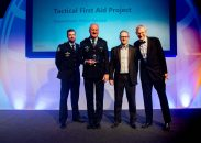 WINNER: Tactical First Aid Project - Queensland Police Service. Awarded by Andy Lea, Head of Policing at KPMG and aided by host and BBC broadcaster Jeremy Vine.