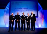 OVERALL WINNER: Operation Encompass - Devon and Cornwall Police in partnership with Operation Encompass charity. Award presented by Allan Fairley, Managing Director of Public Safety at Accenture aided by host and broadcaster Jeremy Vine.