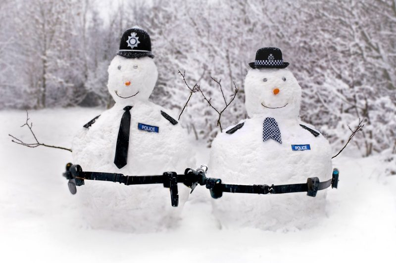 PCs White and Christmas on crime fighting patrol around the West Midlands.