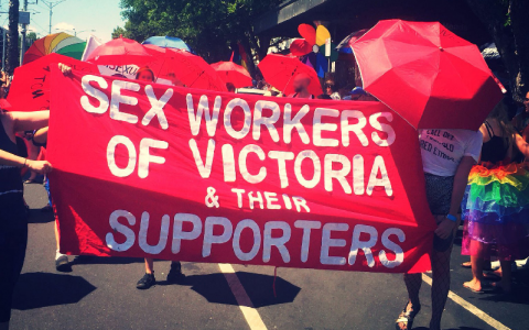 Victoria Sex workers protest