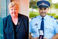 Christine Nixon APM and Sergeant Gurpreet Singh Arora