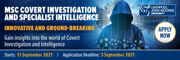 MSc Covert Investigation Banner